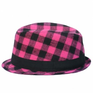 Pink and Black Fedora-400x400