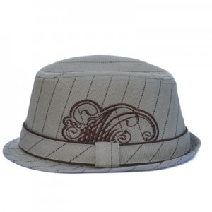 Tan Fedora with embroidery-400x400