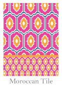 Spring 2014 Swatch - Moroccan Tile 124 x 170