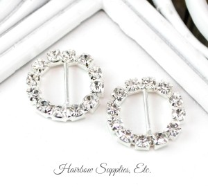 circle rhinestone slider