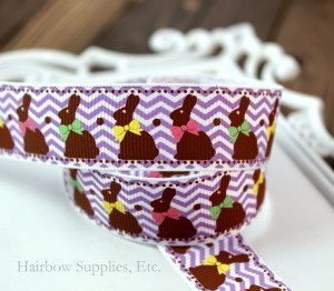 easter bunny chevron ribbon 15