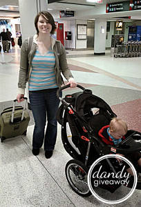 Flying alone with a toddler